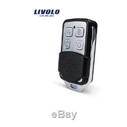 1-10pcs US 1/2/3Gang 2Way Livolo LED Light Touch Remote Smart Switch