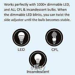 10 Pack BESTTEN Dimmer Light Switch, Universal Lighting Control, Single Pole o