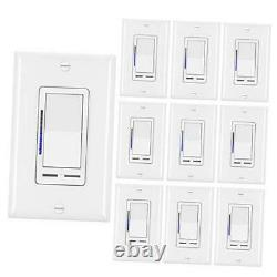 10 Pack Digital Dimmer Light Switch with LED Indicator, Horizontal 10