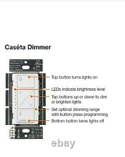 10 QTY Caseta Wireless Smart Lighting Dimmer Switch and Remote Kit for Wall