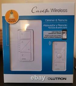 10 QTY Lutron Caseta Wireless Smart Lighting Dimmer Switch Remote Kit for Wall