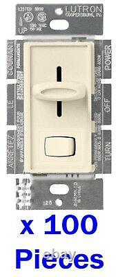 100 x BULK Lutron Skylark S-603PG-LA Eco Dimmer 3-Way/Single Light Switch ALMOND
