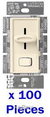 100x Lutron Skylark S-603PG-LA Slide Light Eco Dimmer 3-Way/Single Switch ALMOND