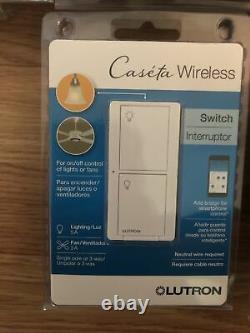(10PCS) Lutron Caseta Wireless In-Wall Light/Fan Switch PD-5ANS-WH-R White