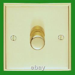 10x Victorian Brass 1 Gang 2 Way Dimmer Light Switch Lamp Knob 40-400W, 220-240V