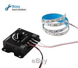 12 Pack PWM Dimming Controller for LED Strip Light, Dimmer Knob ON/OFF Switch