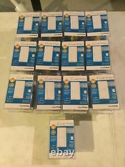 (17 PCS) Lutron Caseta Wireless In-Wall Light/Fan Switch PD-5ANS-WH-R White
