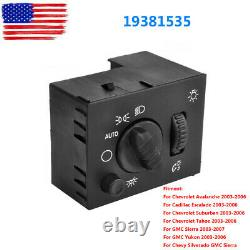19381535 Headlight Dome Light Dimmer Switch for Chevy GMC Cadillac Hummer D1595G
