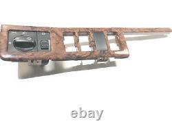 1996-1999 Volvo 960 OEM Woodgrain Dash Bezel Fog Light Dimmer Switch Bezel