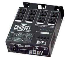 2 CHAUVET DMX-4 4 Channel DMX-512 DJ Dimmer/Switch Relay Pack Light Controllers