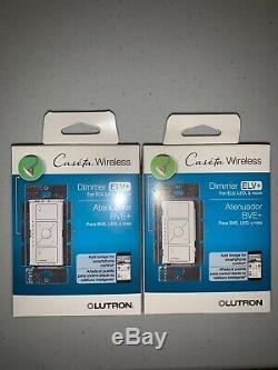2 Lutron Caseta Wireless Smart Lighting Dimmers Switch for ELV+