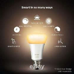 2 x Philips Hue White Ambiance LED 2 x Dimmer switch & Echo Dot, Smart Light Bulb
