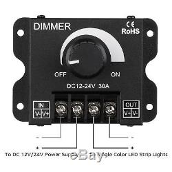 20 Pack TORCHSTAR PWM Dimming Controller for LED Lights, Dimmer Knob Switch