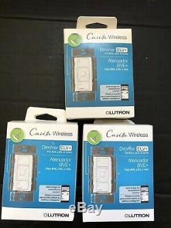 3 Lutron Caseta Wireless Smart Lighting Dimmers Switch for ELV+ Bulbs