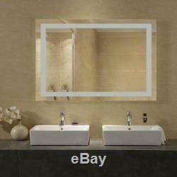 36 x 48 LED Bathroom Lighted Mirror Defogger & Dimmer, On/Off Touch Switch