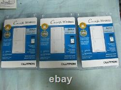 3X Caseta Wireless Switches Interrupter For Lights Or Fans LUTRON PD-5ANS-WH-R
