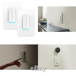 400-Watt Single-Pole Cfl/Led/Incandescent Dimmer Light Switch, White (2-Pack)