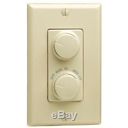 5-Do it Best Ivory Single Pole Rotary Light & Fan Control Switch R21-RTD01-10I