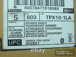5 Leviton Almond Mark 10 Fluorescent TOUCH Light Dimmer Switch 1000VA TPX10-1LA