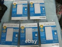 5X Caseta Wireless Switches Interrupter For Lights Or Fans LUTRON PD-5ANS-WH-R