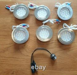6 x Nickel (Dimmable) Camper LED interior lights Complete with Dimmer Switch