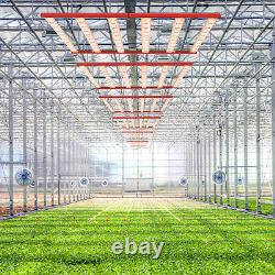 AGLEX 320W LED Grow Light Full Spectrum 6Bars for Indoor Plants Flower
