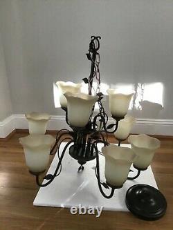 Allen + roth Eastview 9-Light Dark Oil-Rubbed Bronze Chandelier
