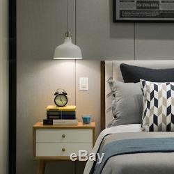 BESTTEN Single & 3 Way Wall Dimmer Light Switch CFL/LED 120V 60Hz UL Certified