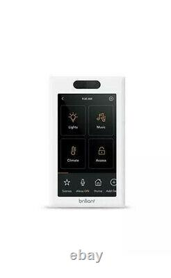 Brilliant All-in-One Smart Home Control 1-Light Switch Panel dimmer BHA120US-WH1