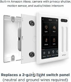 Brilliant All-in-One Smart Home Control 2-Light Switch Panel BHA120US-WH2