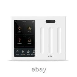 Brilliant All-in-One Smart Home Control 3-Light Switch Panel dimmer BHA120US-WH3