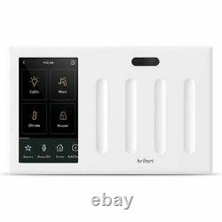 Brilliant All-in-One Smart Home Control 4-Light Switch Panel dimmer BHA120US-WH4