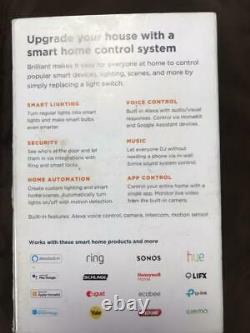 Brilliant Smart Home Control (1 gang Light Switch Panel) Homekit Google Alexa