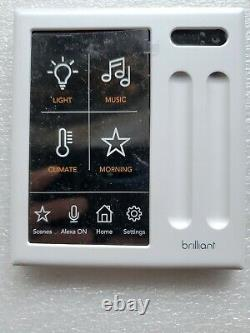 Brilliant Smart Home Control 2-Gang Light Switch Panel (BHA120US-WH2)