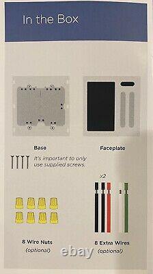 Brilliant Smart Home Control 2-Light Switch Panel Dimmer BHA120US-WH2