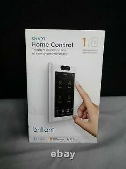 Brilliant Smart Home Control (Replaces a 1-gang Light Switch Panel) BHA120US-WH1
