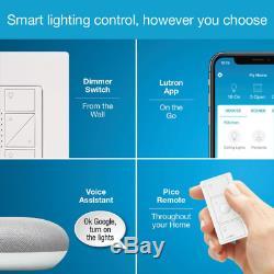 Caseta Wireless Smart Lighting Dimmer Switch Starter Kit w Google Home Mini Chal