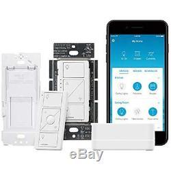 Caseta Wireless Smart Lighting Single Pole/3-way Dimmer Switch Starter Kit