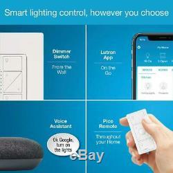 Caseta wireless smart lighting dimmer switch starter kit w google home mini
