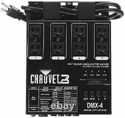 Chauvet DJ DMX-4 LED Lighting Dimmer/Relay Switch Pack- Lighting Accessories