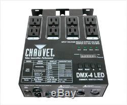 Chauvet DMX-4 LED 4 Channel DMX DJ Lighting Switch Dimmer Relay Power Pack PLUS