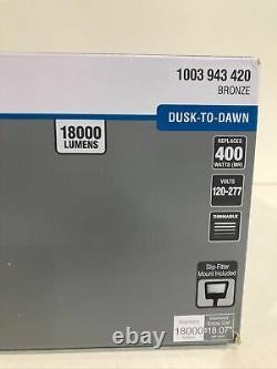 Commercial Electric 1200W LED Bronze Dusk-Dawn Area Light Flood Light