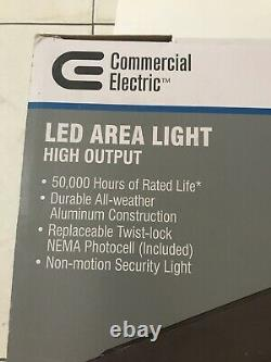 Commercial Electric LED Area Light- High Output Dusk-To-Dawn 18000 Lumens Bronze