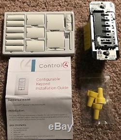 Control4 C4-KC120277-WH Wireless Customizable Keypad Light switch