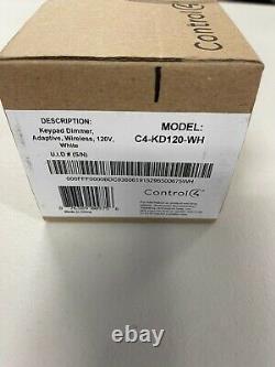 Control4 Wireless Keypad Dimmer C4-KD120-WH Smart Light Switch