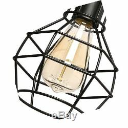 Creatgeek Plug-in Pendant Light with 16'Cord and On/Off Dimmer Switch, Indust