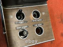 Cuda Challenger Rally Dash Switch Panel Rear Defrost Nice Woodgrain Light Dimmer