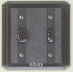 Deco bakelite light or fan switch with universal dimmer, brown, classic, 62UD B