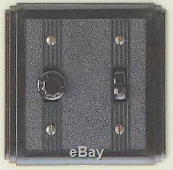 Deco bakelite light or fan switch with universal dimmer, white, classic, 62UD W