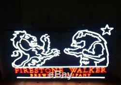 Firestone Walker Brewing Company LED Neon Lighted Bar Sign withDimmer Switch